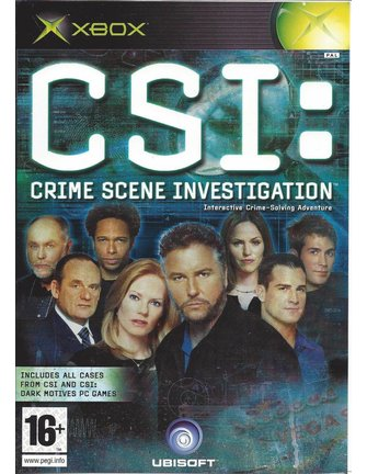 CSI CRIME SCENE INVESTIGATION voor Xbox