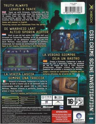 CSI CRIME SCENE INVESTIGATION für Xbox