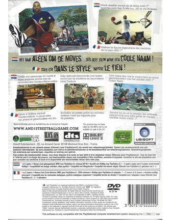 AND 1 STREETBALL voor Playstation 2 PS2