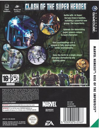 MARVEL NEMESIS - RISE OF THE IMPERFECTS voor Nintendo Gamecube