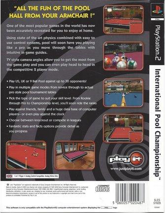 INTERNATIONAL POOL CHAMPIONSHIP voor Playstation 2 PS2