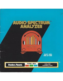 MANUAL für TRS-80 AUDIO SPECTRUM ANALYZER