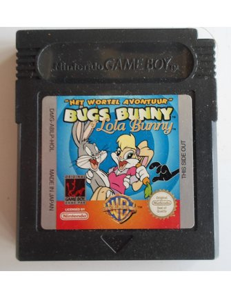 BUGS BUNNY AND LOLA BUNNY HET WORTELAVONTUUR for Nintendo Game Boy Color GBC