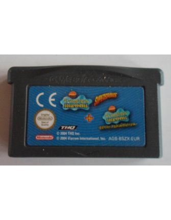 SPONGEBOB SQUAREPANTS SUPERSPONGE & BATTLE FOR BIKINI BOTTOM for GBA