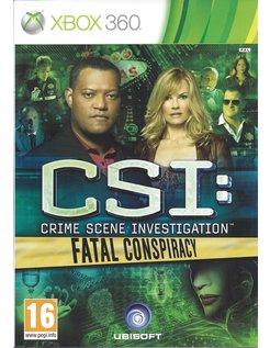 CSI CRIME SCENE INVESTIGATION FATAL CONSPIRACY voor Xbox 360