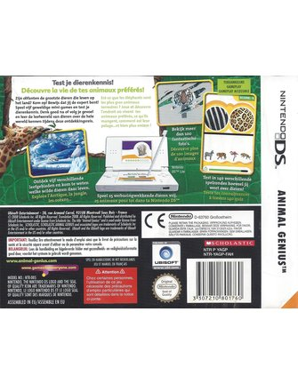 ANIMAL GENIUS for Nintendo DS