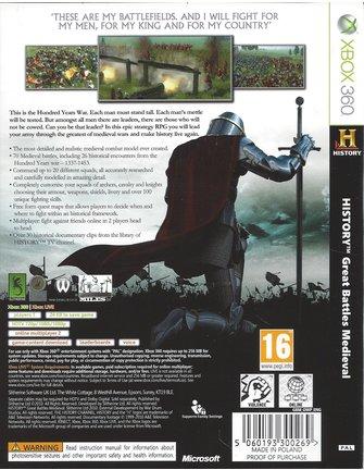 HISTORY GREAT BATTLES MEDIEVAL für Xbox 360