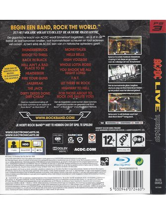 ROCK BAND AC/DC LIVE for Playstation 3 PS3