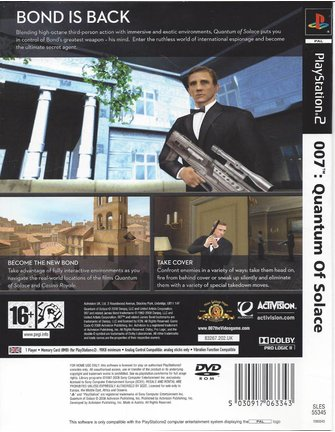 007 QUANTUM OF SOLACE voor PlayStation 2 PS2