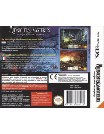 MIDNIGHT MYSTERIES THE EDGAR ALLEN POE CONSPIRACY für Nintendo DS