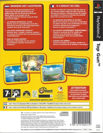 TOP GUN für Playstation 2 PS2
