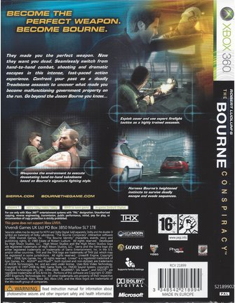 THE BOURNE CONSPIRACY voor Xbox 360