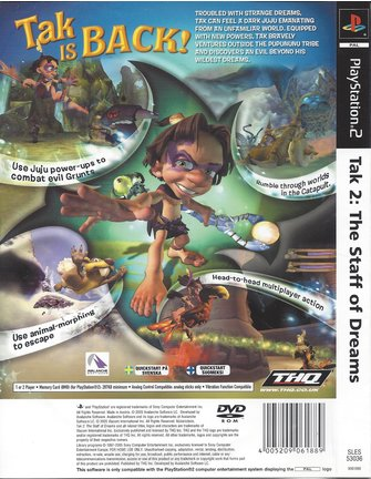 TAK 2 THE STAFF OF DREAMS for Playstation 2 PS2