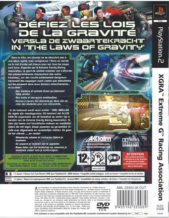 XGRA EXTREME G RACING ASSOCIATION für Playstation 2 PS2 - Anleitung in NL