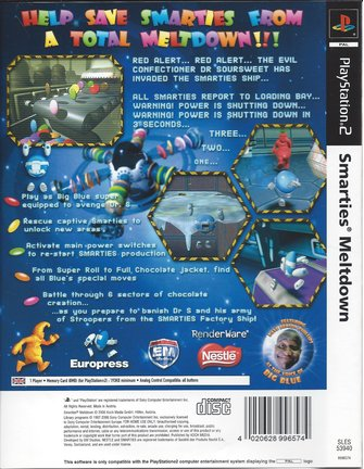 SMARTIES MELTDOWN voor Playstation 2 PS2