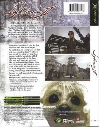 SYBERIA II (2) for Xbox
