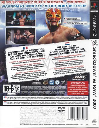 WWE SMACKDOWN VS RAW 2007 for Playstation 2 PS2