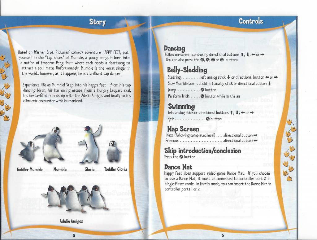 Happy Feet for Playstation 2 PS2 - worldwide shipping, fast