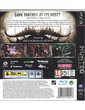 HUNTED THE DEMON'S FORGE voor Playstation 3 PS3