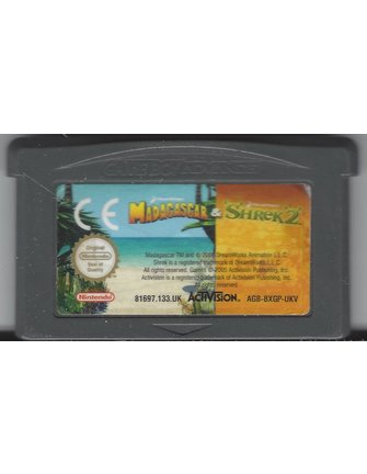 DOUBLE PACK MADAGASCAR & SHREK 2 voor Game Boy Advance GBA