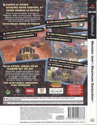 MONSTER JAM MAXIMUM DESTRUCTION for Playstation 2 PS2