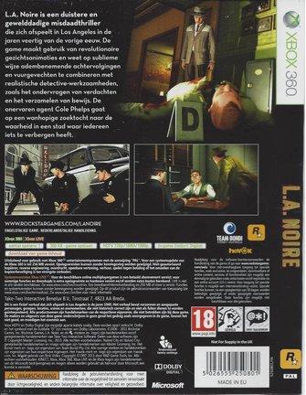 LA NOIRE voor Xbox 360