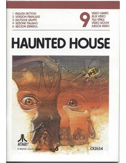 MANUAL for ATARI 2600 GAME CARTRIDGE HAUNTED HOUSE
