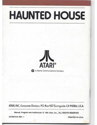 MANUAL for ATARI 2600 GAME CARTRIDGE HAUNTED HOUSE