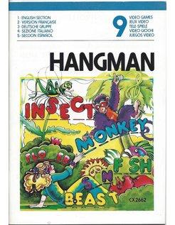 MANUAL voor ATARI 2600 GAME CARTRIDGE HANGMAN