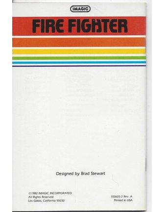 HANDBUCH für Atari 2600 Spielkassette FIRE FIGHTER (Imagic)