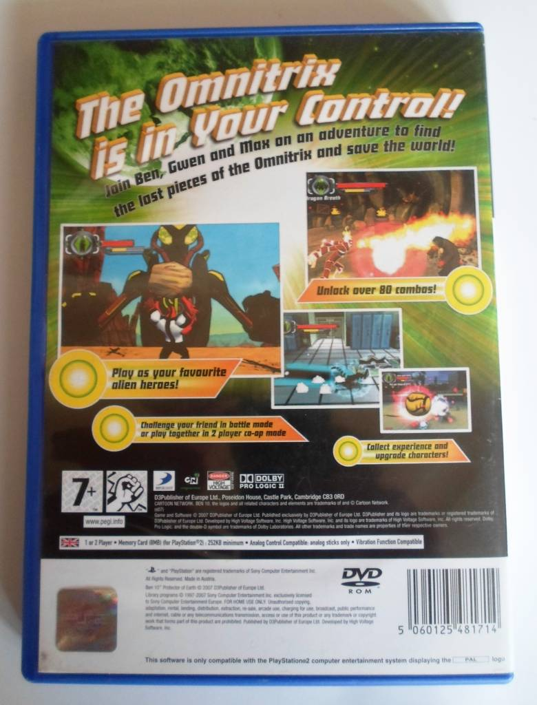 Ben 10 Protector of Earth for Playstation 2 PS2 - Passion For Games