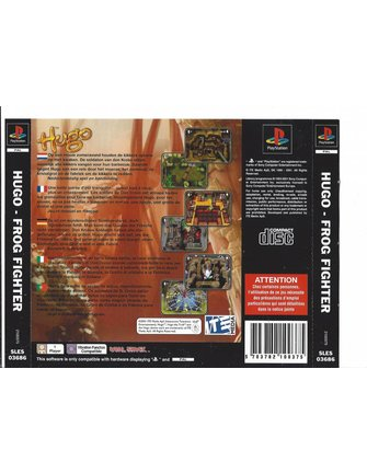 HUGO FROG FIGHTER voor Playstation 1 PS1