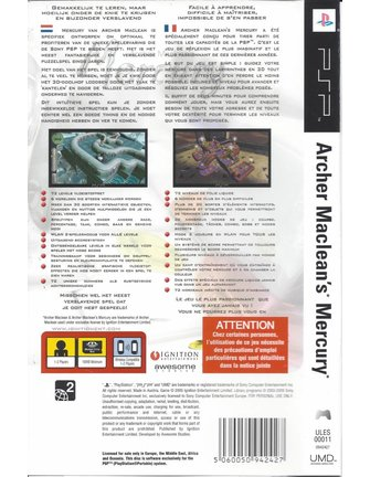 ARCHER MACLEAN'S MERCURY für PSP
