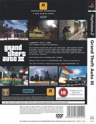 GRAND THEFT AUTO GTA III (3) voor Playstation 2 PS2 - met doos, handleiding & poster