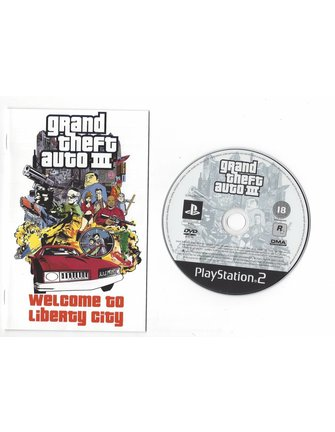 GRAND THEFT AUTO GTA III (3) for Playstation 2 PS2 - with box, manual & poster