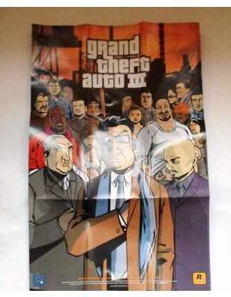 GRAND THEFT AUTO GTA III (3) für Playstation 2 PS2 - mit Box, Anleitung und Poster