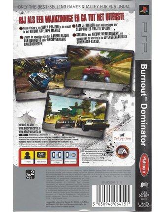 BURNOUT DOMINATOR voor PSP - Platinum