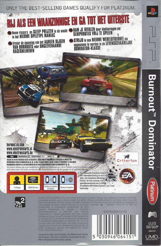 Burnout Dominator für Playstation Portable PSP - Passion For Games