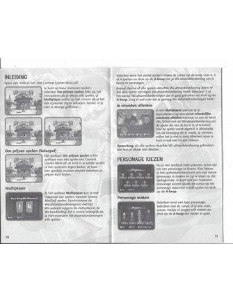 CARNIVAL GAMES MINI GOLF for Nintendo Wii