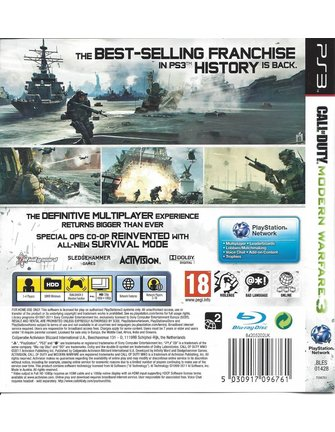 CALL OF DUTY MODERN WARFARE 3 voor Playstation 3 PS3