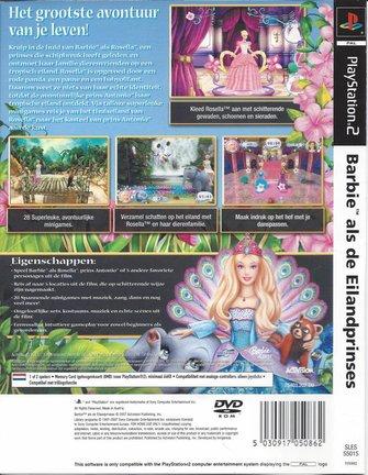 BARBIE ALS DE EILANDPRINSES for Playstation 2 PS2