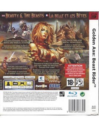 GOLDEN AXE BEAST RIDER voor Playstation 3 PS3
