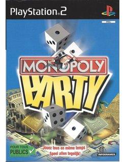 MONOPOLY PARTY voor Playstation 2 PS2 - manual in Frans en Nederlands