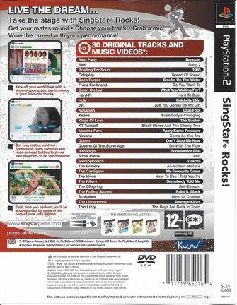 SINGSTAR ROCKS for Playstation 2 PS2