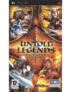 UNTOLD LEGENDS BROTHERHOOD OF THE BLADE for PSP