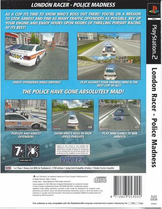 LONDON RACER POLICE MADNESS voor Playstation 2 PS2
