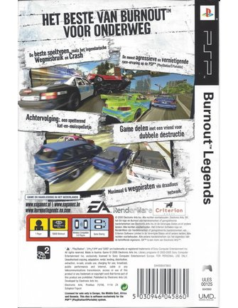 BURNOUT LEGENDS für PSP