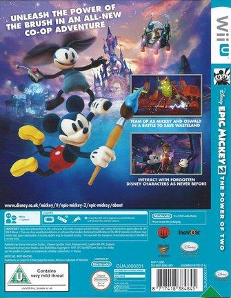 EPIC MICKEY 2 THE POWER OF TWO voor Nintendo Wii U