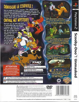SCOOBY-DOO UNMASKED for Playstation 2 PS2
