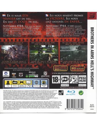 BROTHERS IN ARMS HELL'S HIGHWAY voor Playstation 3 PS3